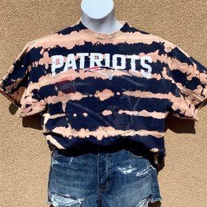 NFL Patriots Custom Bleach Tee